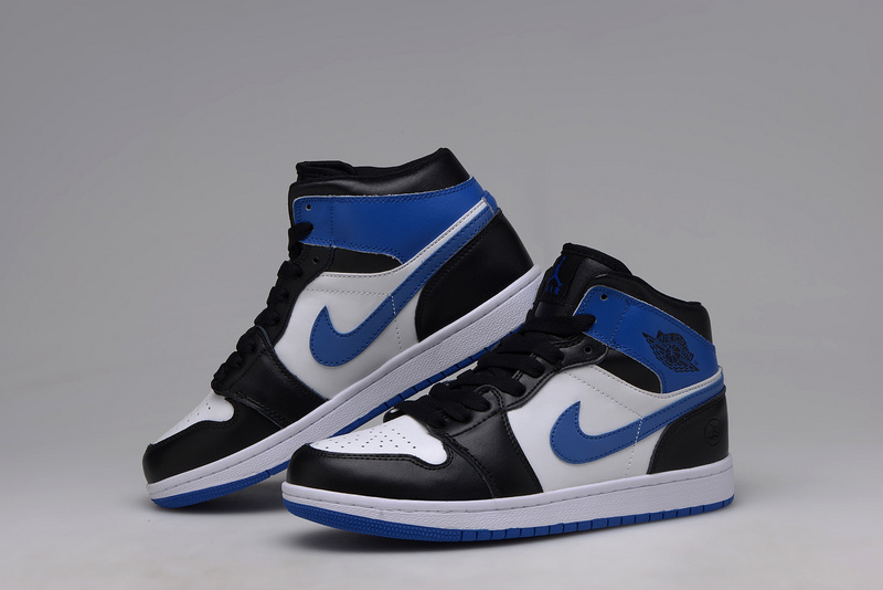 air jordan 1 bleu blanc noir